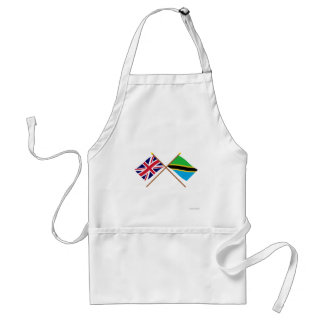 UK and Tanzania Crossed Flags Adult Apron
