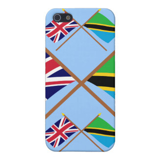 UK and Tanzania Crossed Flags Case For iPhone 5