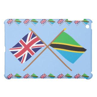 UK and Tanzania Crossed Flags iPad Mini Cover