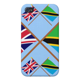 UK and Tanzania Crossed Flags iPhone 4/4S Covers