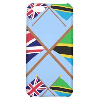 UK and Tanzania Crossed Flags iPhone 5C Covers