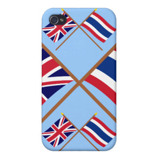 UK and Thailand Crossed Flags iPhone 4 Case