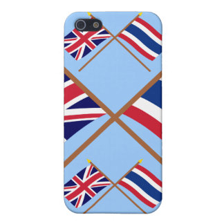 UK and Thailand Crossed Flags iPhone 5 Cover