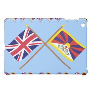 UK and Tibet Crossed Flags iPad Mini Covers