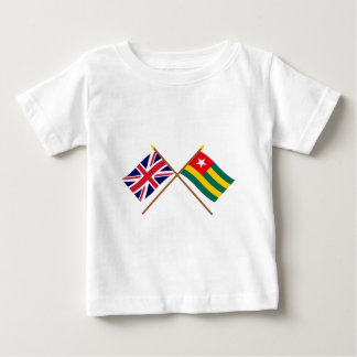 UK and Togo Crossed Flags Baby T-Shirt