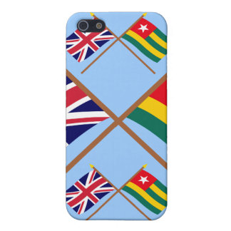 UK and Togo Crossed Flags Cases For iPhone 5