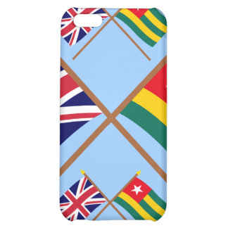 UK and Togo Crossed Flags iPhone 5C Case