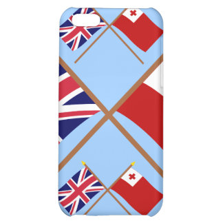 UK and Tonga Crossed Flags Cover For iPhone 5C