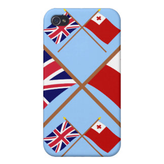 UK and Tonga Crossed Flags iPhone 4 Covers