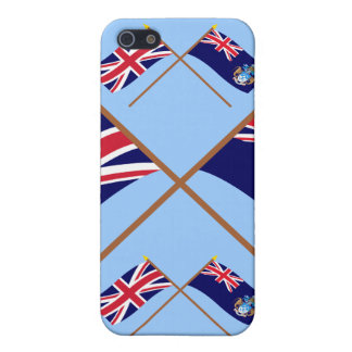 UK and Tristan da Cunha Crossed Flags iPhone 5 Covers