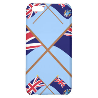 UK and Tristan da Cunha Crossed Flags Case For iPhone 5C