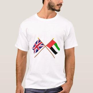 UK and United Arab Emirates Crossed Flags T-Shirt
