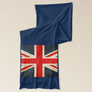 UK and USA Flag Long Cotton Scarf