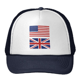 UK and USA flags Trucker Hat