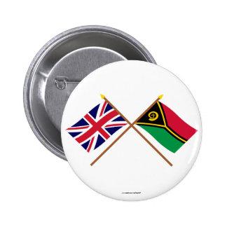 UK and Vanuatu Crossed Flags Pins