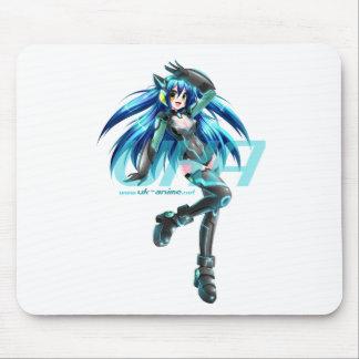 UK Anime Network Cyber-Mizuki Mouse-Mat Mouse Pad