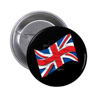 UK Anthem Blk Pinback Button