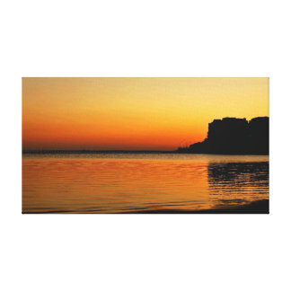 UK Beach Sunset Stretched Canvas Prints
