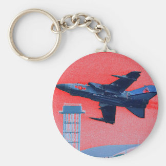 UK blue jet Keychain