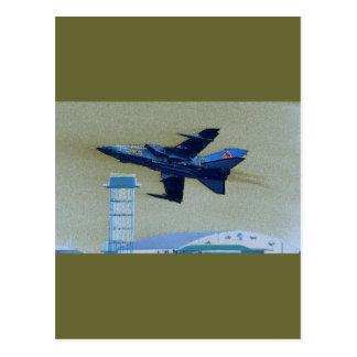UK blue jet Postcard