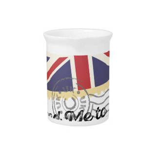 UK Britain Flag Life Send Me To Country Beverage Pitcher