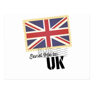 UK Britain Flag Life Send Me To Country Postcard