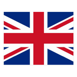 UK Britain Royal Union Jack Flag Postcard