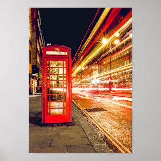 UK British City Telephone Poster