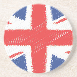 UK British Flag Drink Coaster