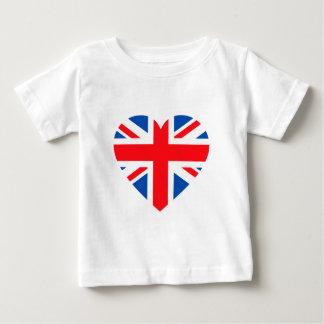 UK British Flag Heart Great Britain Baby T-Shirt
