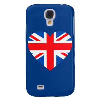 UK British Flag Heart Great Britain Galaxy S4 Case