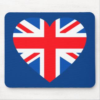 UK British Flag Heart Great Britain Mouse Pad