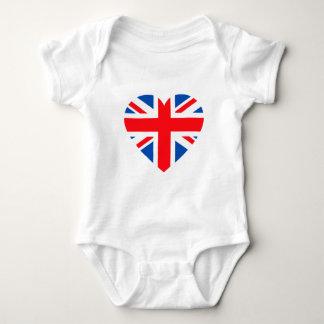 UK British Flag Heart Great Britain T-shirt