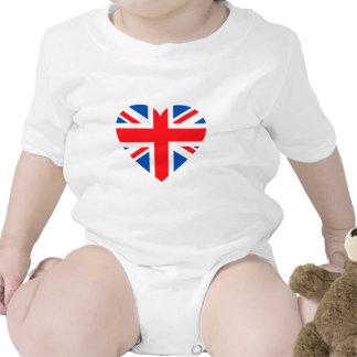 UK British Flag Heart Great Britain Tshirt