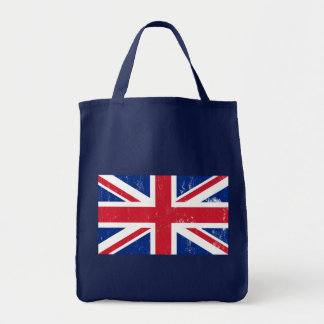 UK British Great Britain England English Flag Grocery Tote Bag