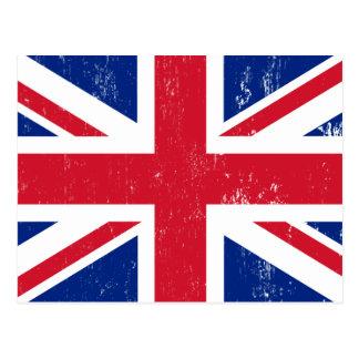 UK British Great Britain England English Flag Postcard