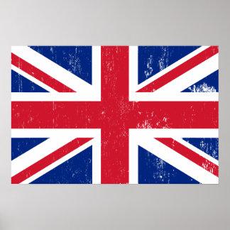 UK British Great Britain England English Flag Poster