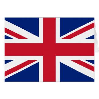 UK British Union Jack Flag Card