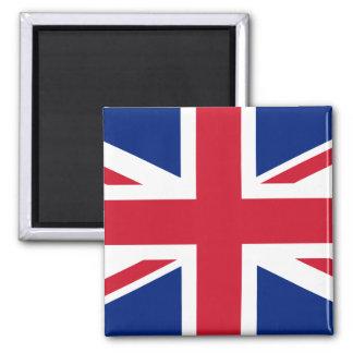 UK British Union Jack Flag 2 Inch Square Magnet