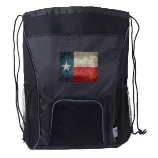 UK British Union Jack  flag retro style back pack Drawstring Backpack