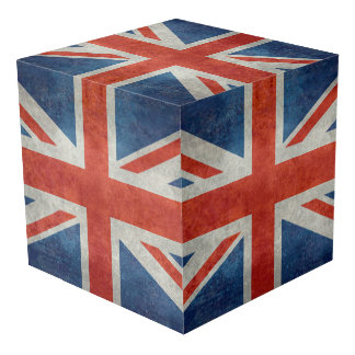UK British Union Jack Flag Retro Style Photo Cube Ideas