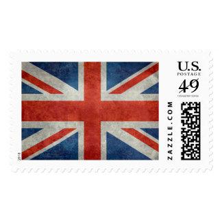 UK British Union Jack flag retro style stamp