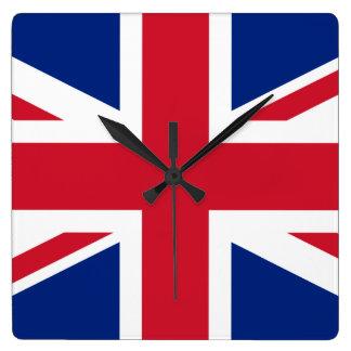 UK British Union Jack Flag Square Wall Clock