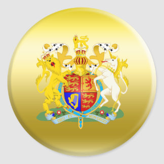 UK Coat of Arms Classic Round Sticker