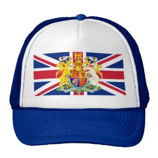 UK Coat of Arms & Flag Trucker Hat