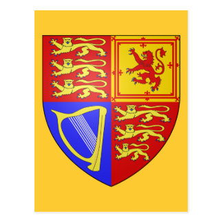 UK COAT OF ARMS POSTCARD
