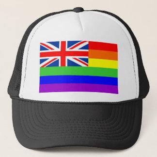 uk country gay proud rainbow flag homosexual trucker hat