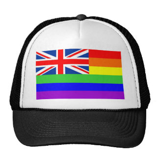 uk country gay proud rainbow flag homosexual trucker hat