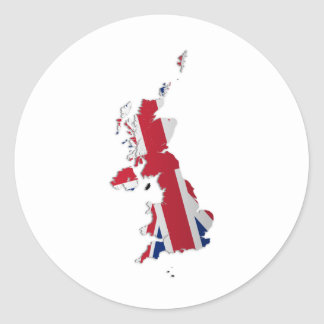 UK & Crown Dependencies Flag Map_2 Classic Round Sticker