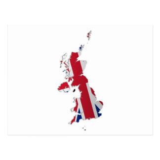 UK & Crown Dependencies Flag Map_2 Postcard